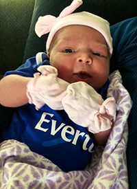 Alba in her Everton oneside